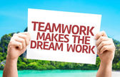 Teamwork Makes the Dream Work card — Stock Photo