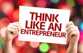 Think Like an Entrepreneur card — Stok fotoğraf