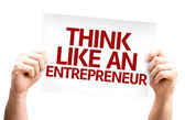 Think Like an Entrepreneur card — Stock Photo