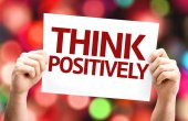Think Positively card — Stock Photo