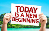 Today is a New Beginning card — Foto de Stock