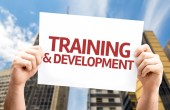 Training & Development card — Stock Photo