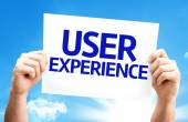User Experience card — Stock Photo
