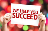 We Help You Succeed card — Stock Photo