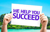 We Help You Succeed card — Stockfoto