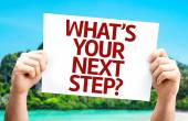What's Your Next Step? card — Stock Photo