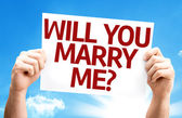 Will You Marry Me? card — Stock Photo