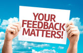 Your Feedback Matters card — Stock Photo