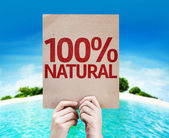 100 Percent  Natural card — Stock Photo