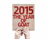 2015 The Year of Goat card — Stock Photo
