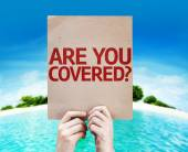 Are You Covered? card — Stock Photo