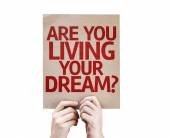 Are You Living Your Dream? card — Stock Photo