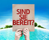 Are You Ready (in German) card — Stock Photo