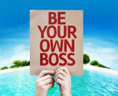 Be Your Own Boss card — Stock Photo