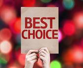 Best Choice card — Stock Photo