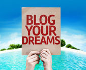 Blog Your Dreams card — Stock Photo