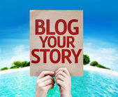 Blog Your Story card — Stock Photo
