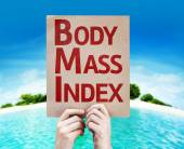 Body Mass Index card — Foto de Stock