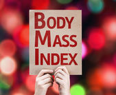 Body Mass Index card — Stock Photo