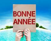Happy New Year (in French) card — Stock Photo