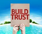 Build Trust card — Stock Photo