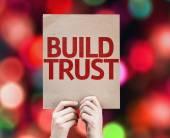 Build Trust card — Stock Photo