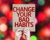 Change Your Bad Habits card — Stock Photo