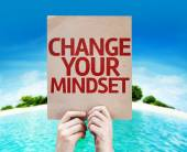 Change Your Mindset card — Stock Photo