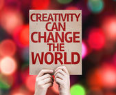 Creativity Can Change The World card — Stock Photo