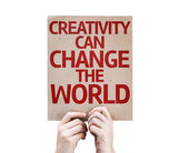 Creativity Can Change The World card — 图库照片