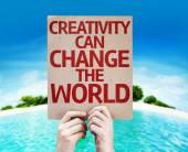 Creativity Can Change The World card — Stock Photo