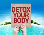 Detox Your Body Karte — Stockfoto