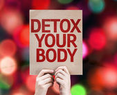 Detox Your Body card — Stock Photo