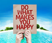 Do What Makes You Happy card — Stock Photo