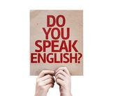 Do You Speak English? card — Stock Photo