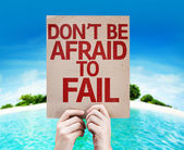Don't be Afraid to Fail card — Stock Photo