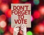 Don't Forget to Vote card — Stock Photo