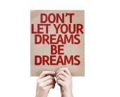 Don't Let Your Dreams Be Dreams card — Stock Photo