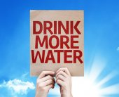 Drink More Water card — ストック写真