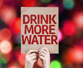 Drink More Water card — Stock Photo