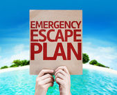 Emergency Escape Plan card — Stock Photo