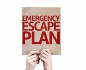 Emergency Escape Plan card — Stock Photo