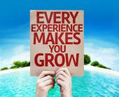 Every Experience Makes You Grow card — Stock Photo