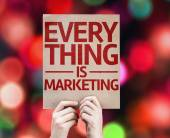 Every Thing is Marketing card — Stock Photo