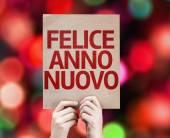 Happy New Year (in Italian) card — Zdjęcie stockowe