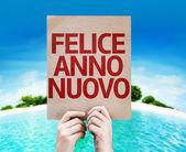 Happy New Year (in Italian) card — Stock Photo