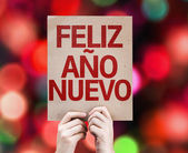 Happy New Year (in Spanish) card — Stock Photo