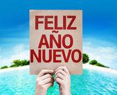 Happy New Year (in Spanish) card — Stock Photo