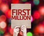 First Million card — Stock Photo