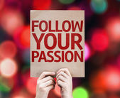 Follow Your Passion card — Stock Photo